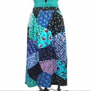 Vintage 80s 90s Colorful Skirt Size Medium